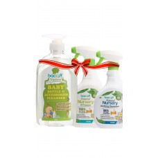 BABY BOTTLE & ACCESSORIES CLEANSER + NURSERY ALL PURPOSE  + NURSERY TOY SURFACE & AIR SANITIZER